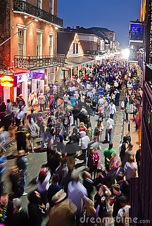Free Bourbon Street At Dusk Stock Photos - 19051183