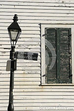 Free Bourbon Street Lamppost Royalty Free Stock Image - 468996