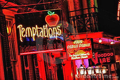 Bourbon Street New Orleans - Adult Playground Stock Photography - Image: 22007582