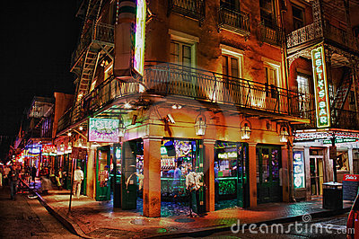 Bourbon Street New Orleans - Jester s Bar Editorial Stock Image