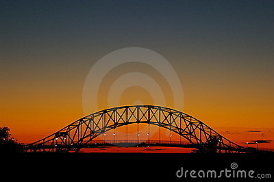 Bourne Bridge at sunset