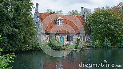 Colchester Essex UK Old Mill beside pond