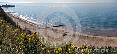 Bournemouth Beach and Pier from Cliff