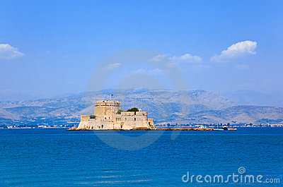 Bourtzi Castle Island In Nafplion, Greece Stock Photos - Image: 18730143