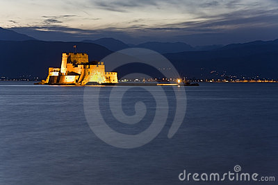 Bourtzi fortress at Nafplio city in Greece