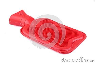 Bouteille d eau d un rouge ardent