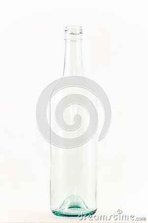bouteille de vin en verre vide claire sur le blanc photos stock image 37193033. Black Bedroom Furniture Sets. Home Design Ideas