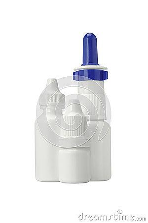 Bouteilles en plastique de spray nasal