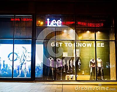 Boutique Editorial Stock Photo