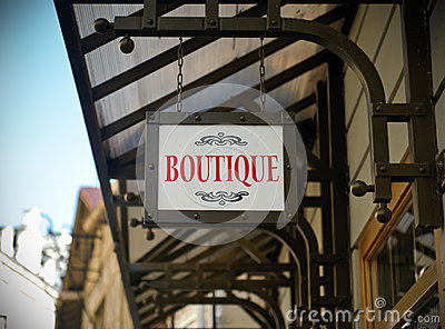 Boutique shop sign