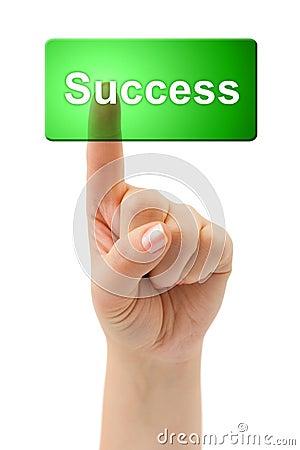 Boutonnez la réussite de main
