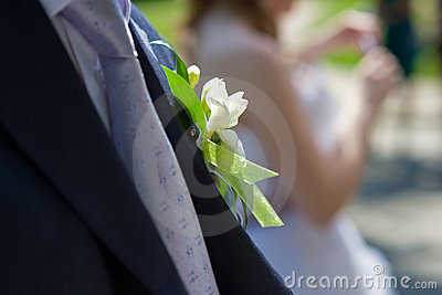 Boutonniere for the groom suit