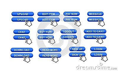 Boutons commerciaux de site Web