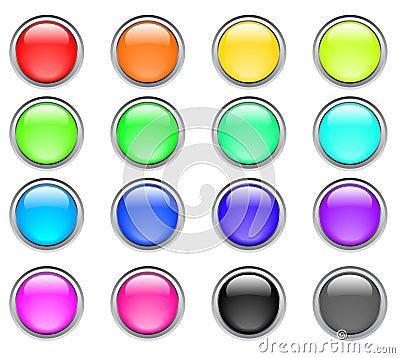 Boutons de couleur