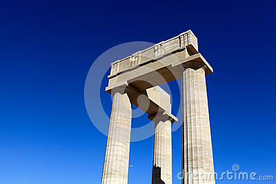 Bovenkant van stoa Hellenistic