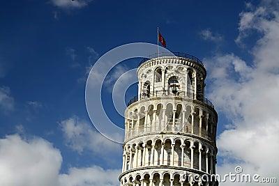 Bovenkant van toren in Pisa