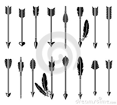 Free Bow Arrow Set. Vector Royalty Free Stock Photo - 48711895