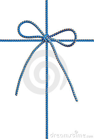 Bow from a blue cord