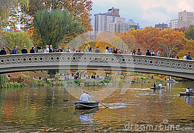 Bow Bridge In Central Park Editorial Photo
