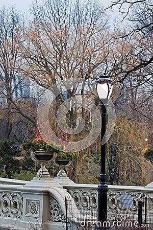 Bow Bridge Central Park in Winter