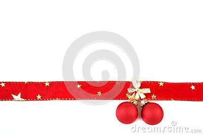 Bow with christmas balls