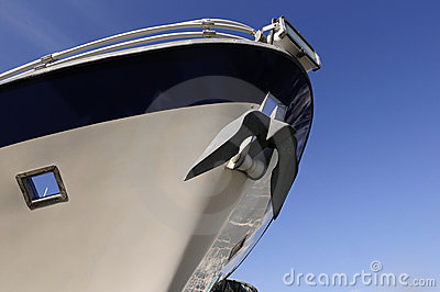 Bow of cruise ship