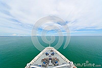 Bow of a cruise ship