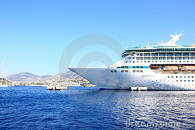 The bow of a cruise ship