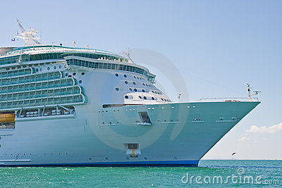 Bow of Cruise Ship at Sea