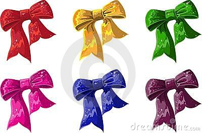 Bow of of different colors