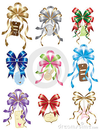 Bow with Gift Tag Set