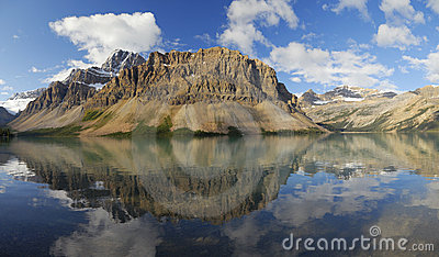 Bow Lake in Canadian Rockies
