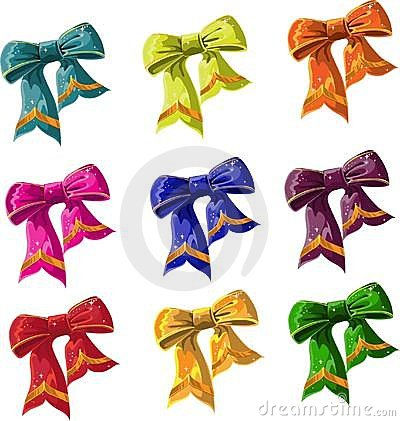 Bow of multicolored with lag