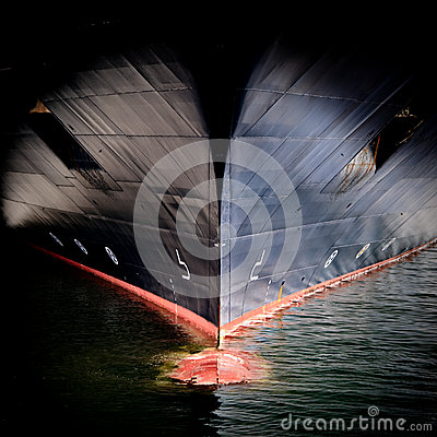 Free Bow Of A Large Ship Stock Image - 25752461