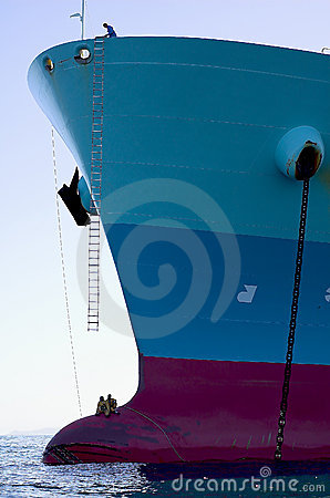 Free Bow Of The Tanker Crude Oil Ca Royalty Free Stock Photography - 4416727