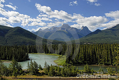 Bow River near Banff Nat l Par