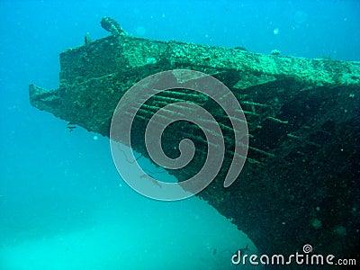 Bow of the Stella Maru wreck