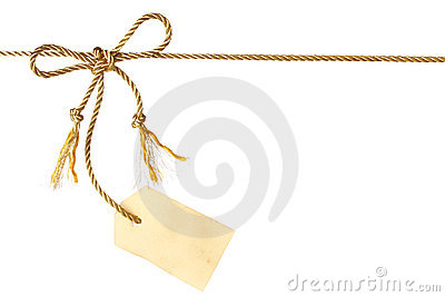 Bow with tag