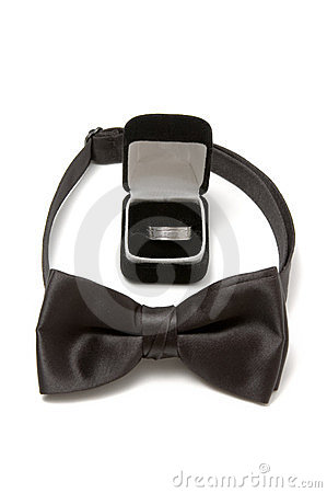 Free Bow Tie And Wedding Ring Royalty Free Stock Photography - 23559677