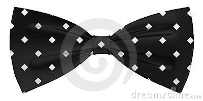 Bow tie - black with squares