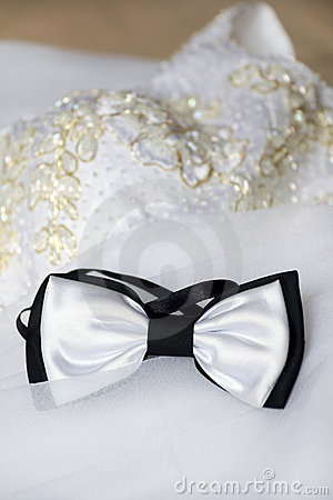 Bow Tie and Bride s Dress