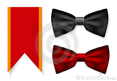 Bow tie and red ribbon