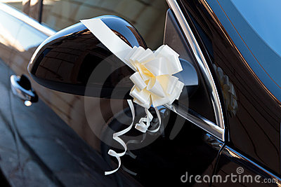 Bow on vehicle side mirror