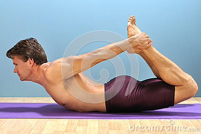 Bow yoga pose