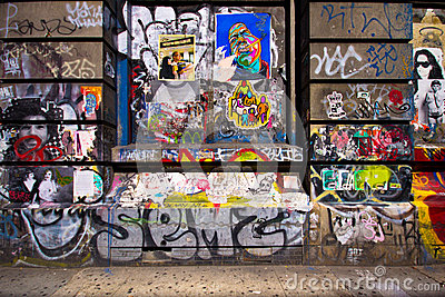 Bowery NYC Graffiti Editorial Image