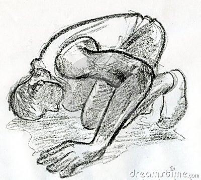Bowing man