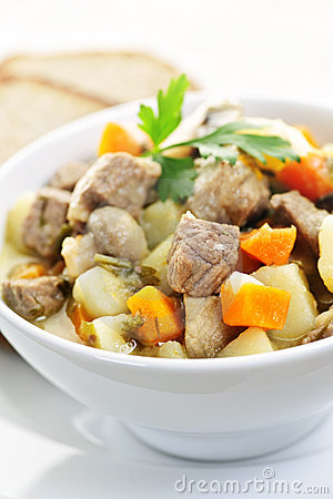Bowl of beef stew