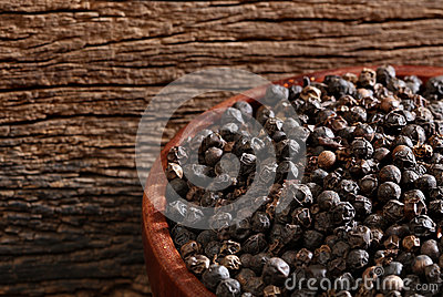 Bowl with black pepper