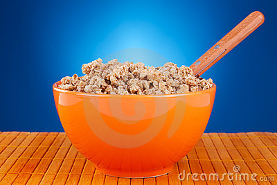 Bowl of cereal and spoon