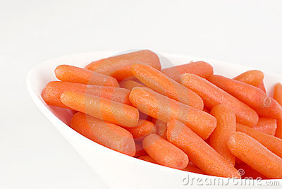 Bowl of Colorful Fresh Baby Carrots